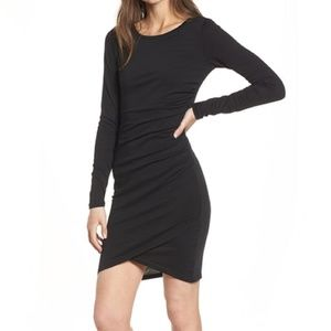 Leith Long Sleeves Bodycon Ruched Dress XS/0